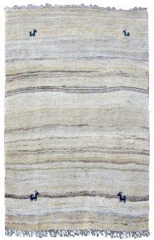 Tapis vintage Persan Gabbeh fait main, 1Q0215