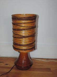 Lampe à poser en céramique - Potiers d'Accolay circa 1960