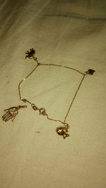 Bracelet à breloques en or jaune 18k