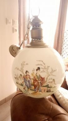 Lustre chinois opaline 1960