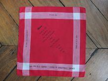 Mouchoir de Cholet rouge et blanc 1975
