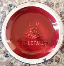 Vase St Clément Rouge Blanche LETALLE 50'
