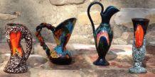 4 pichets Vallauris vintage année 60