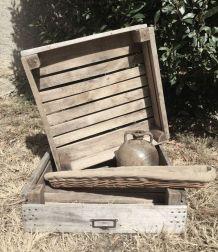Cagette ancienne en bois, caisse de  fruits