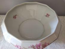 Saladier Porcelaine de LIMOGES Décor Glaïeuls
