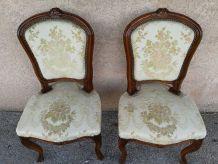 **SUR TOULON** Chaises vintage baroques bois sculpté