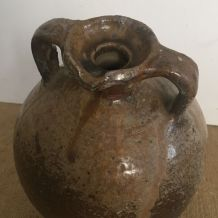 Jarre en grès vernissé, poterie, buire