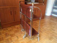 Desserte roulante vintage plateau pliable - 2 plateaux Se pl