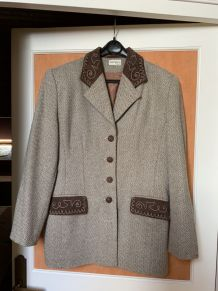 VESTE LAINAGE marron