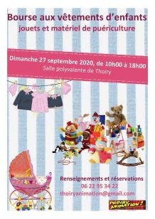 Bourse vêtements enfant, jouets et matériel Puériculture