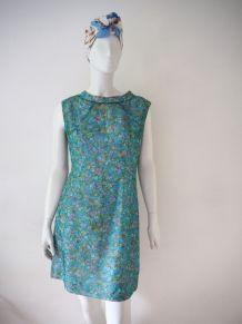 Robe plissée fleurie Mod yéyé vintage 60's