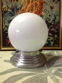 plafonnier opaline vintage