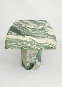 "Rare grande table marbre ""VERDE LUANA"" italie 1970"