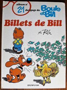 BD Boule et Bill - 21- Billets de Bill - EO Dupuis 1987