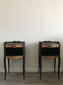 Tables de chevets laqué noire mate