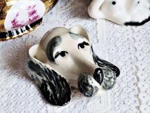 Figurine chien, décoration murale, cadeau anniversaire amie.