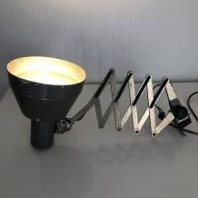 Lampe accordéon anthracite vintage 1960 - 65 x 18 cm