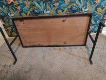 table basse vintage des années 70 bois, verre et métal