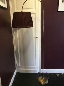 Lampadaire de sofa en laiton  réglage en hauteur