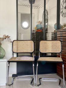Paire de chaises Marcel Breuer Cesca B32 vintage