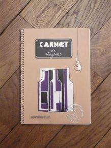 """Cahier A Spirales """"Carnet de Vignes"""" pour Dégustation Vins"""