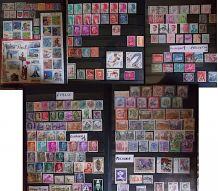 Beau lot de + de 1000 timbres philatélie France et tous pays