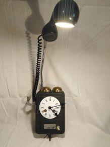 Lampe telephone /lampe industrielle/detournement d'objet