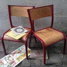 Petites chaises écolier