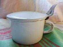Pot lait/crème émaillé ancien
