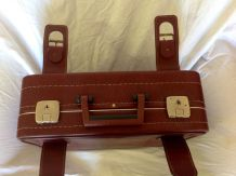 valise skaî bordeaux vintage
