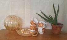 Lot de 4 tasses céramique anglaise