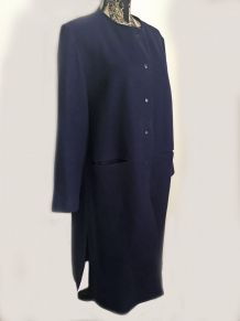 Manteau vintage bleu marine marque Sav Heol Taille 48