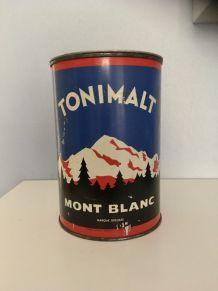 Boîte tôle lithographiée vintage TONIMALT MONT BLANC