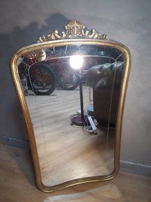 grand miroir cisele 1900 au mercure patine d