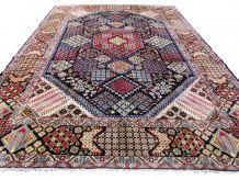 Tapis vintage Persan Yazd fait main, 1Q0267