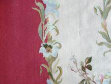 Tapis vintage Français Aubusson fait main, 1Q0274