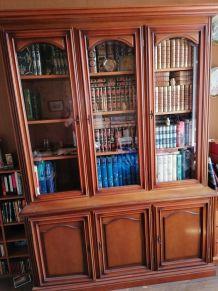 Bibliothèque style merisier