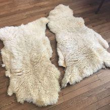 Tapis peau de mouton beige