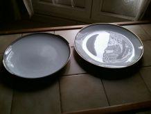 LOT  2 grands plats  en porcelaine  WINTERLING BAVARIA