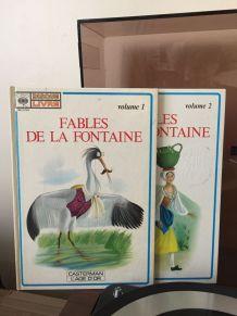 2 disque-livres Fables de la Fontaine