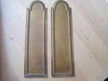 2 plaques de protège porte en cuivre