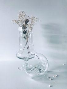 Grand flacon en verre forme apothicaire