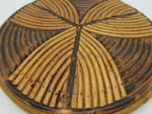 dessous de plat rotin vintage rattan trivet