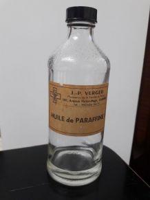 Ancienne bouteille flacon verre pharmacie antiquaire huile