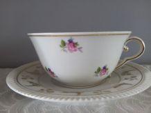 Tasse & sous tasse Porcelaine de Limoges. L.Lourioux à Foëcy