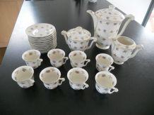 Service à café shabby chic en porcelaine de Limoges