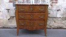 Commode style louis XV en bois de rose
