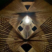 Suspension bois et fil scandinave