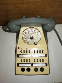 Ancien Téléphone de Standard Socotel Rétro Vintage (1970)