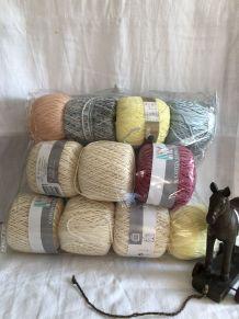Bobines en coton pour crochet vintage